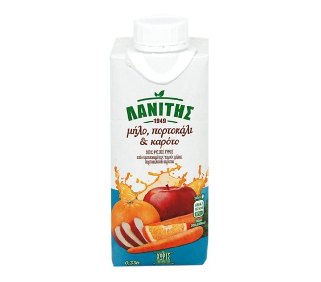 LANITIS APPLE, ORANGE & CARROT - 0.33LT