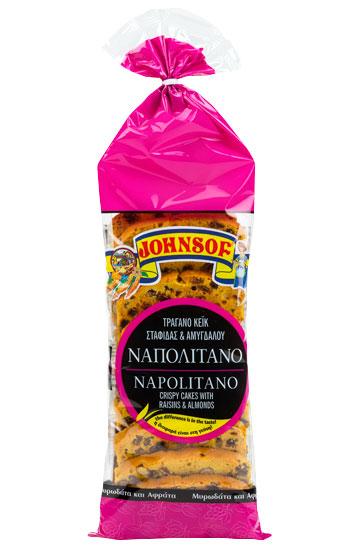 Johnsof Napolitano raisins & almonds crispy cake - 240g