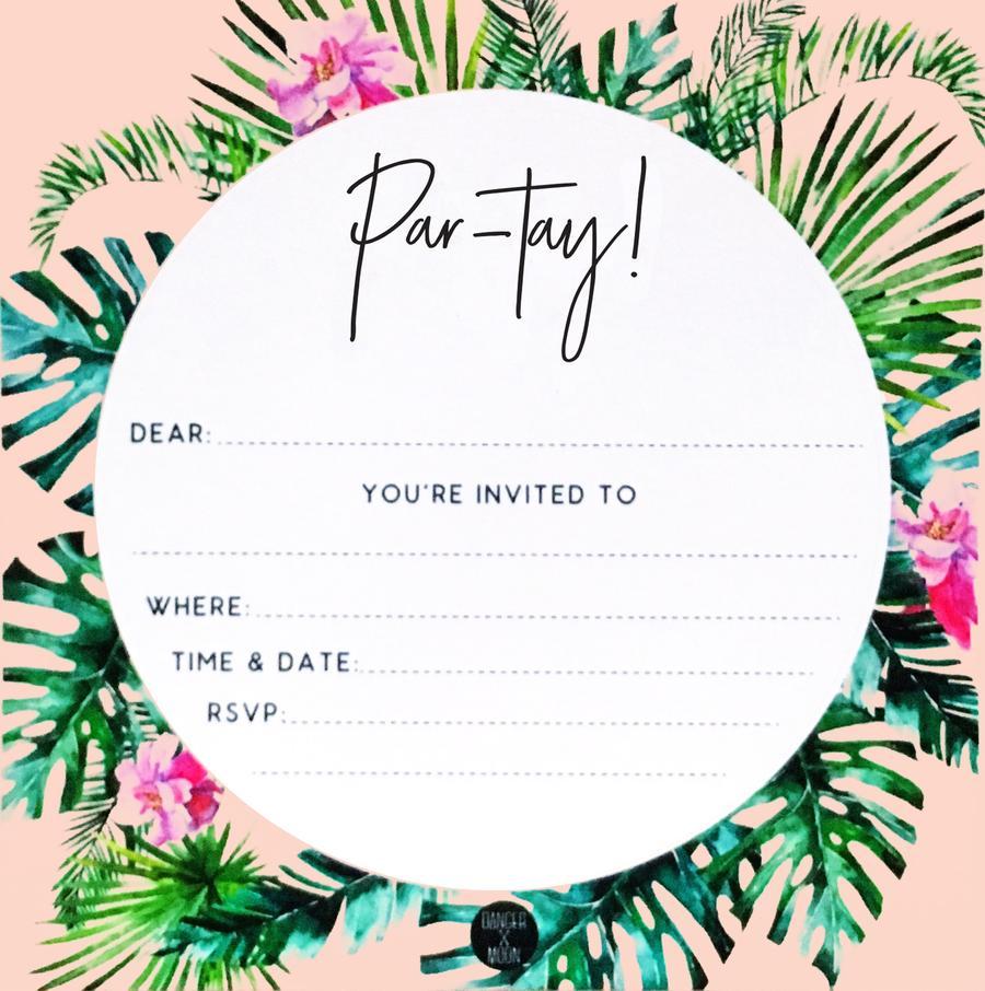 PARTY INVITATIONS PK10