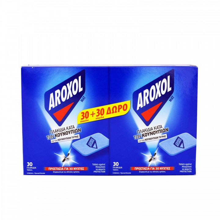 AROXOL INSECT REPELLENT TABLETS MAT 30 NIGHTS