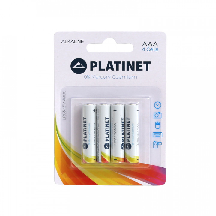 PLATINET AAA ALKALINE 1.5V X4