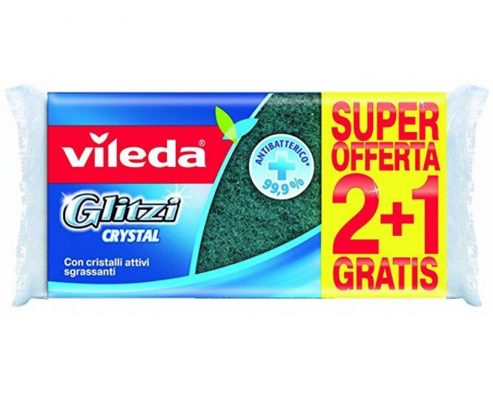 VILEDA GLITZI CRYSTAL 2+1 SPONGES