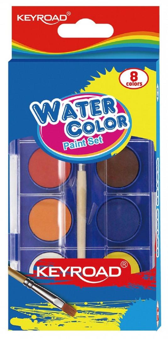 WATERCOLOR PAINT SET 8 COLORS