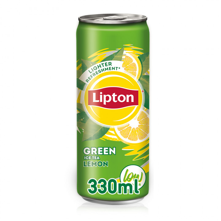 LIPTON GREEN TEA-LEMON CAN 330