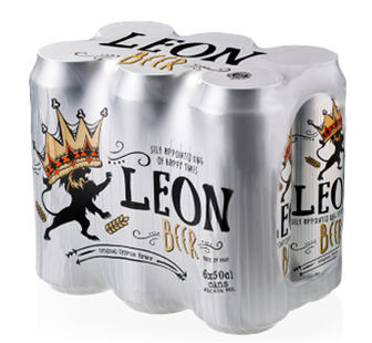 LEON BEER CAN BOX 6X50CL
