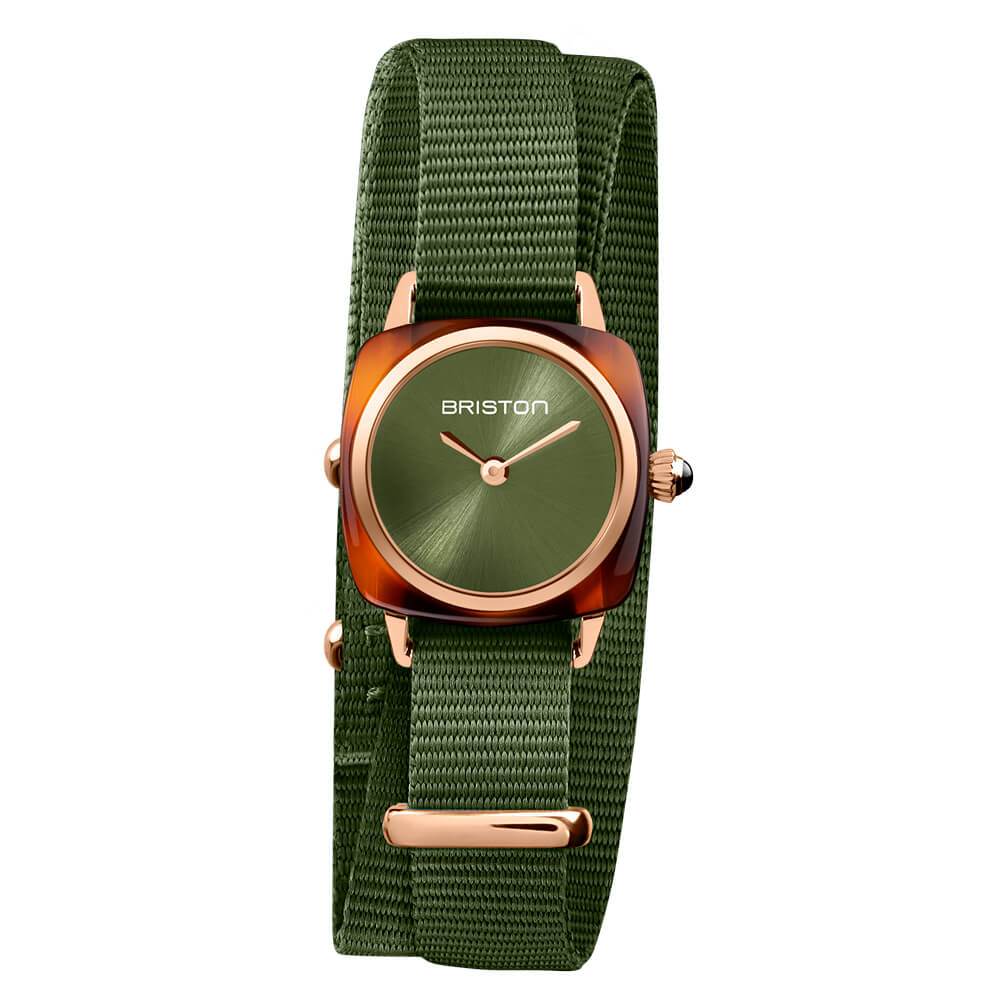CLUBMASTER LADY ACETATE – GREEN OLIVE ROSEGOLD
