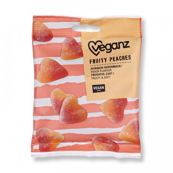 VEGANZ FRUITY PEACHES 100G