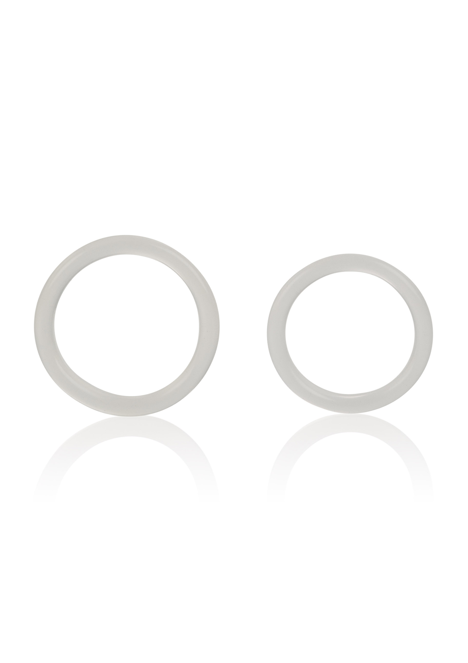 SILICONE RINGS LARGE & XLARGE CLEAR