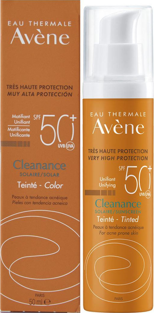 Avene face suncream cleanance tinted spf50 TINTED