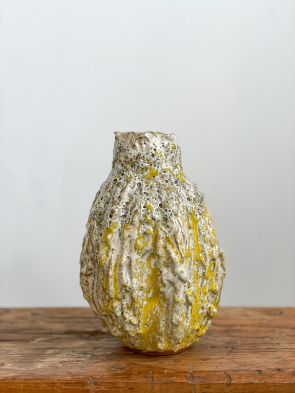 Ornamental fruit vase - Yellow