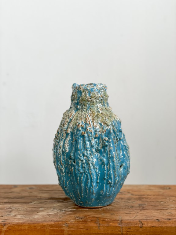 Ornamental fruit vase - Blue