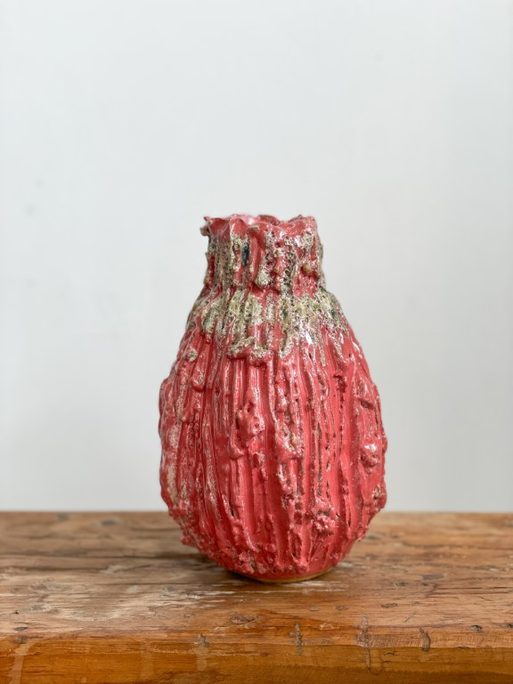 Ornamental fruit vase - Red
