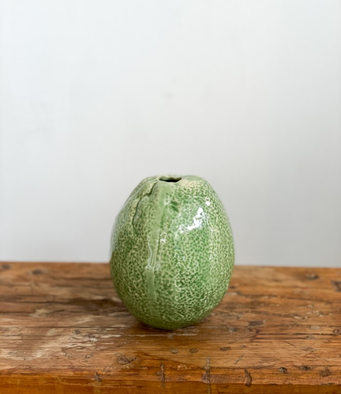 Lemon vase - green