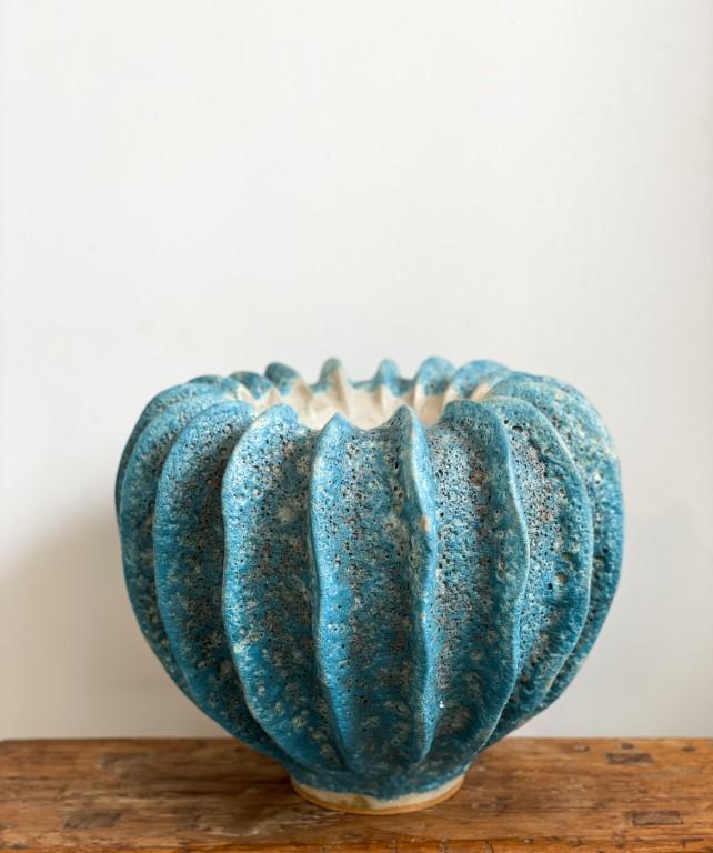 Moss-vase turquoise big