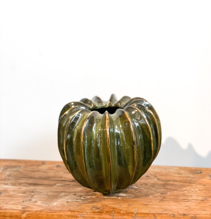 Pumpkin-vase green - small
