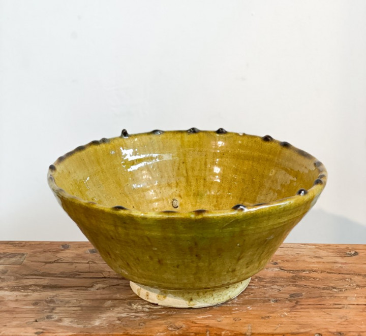 Bowl conical - mustard