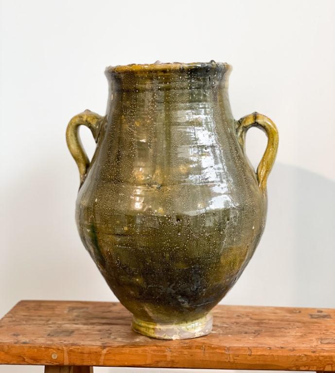 Jar with ears mustard