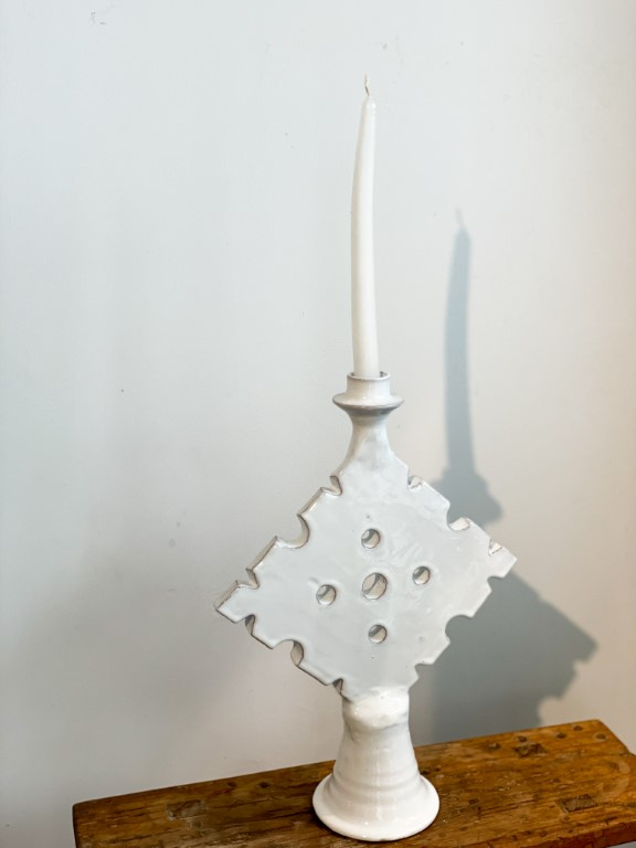 Candle holder Touareg M Tamegroute - White