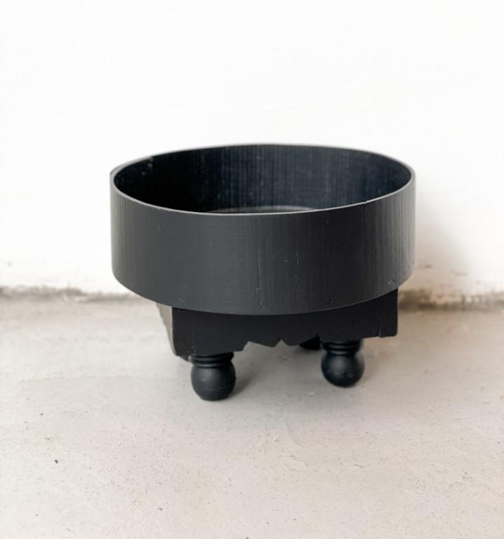 Tray table black 25cm