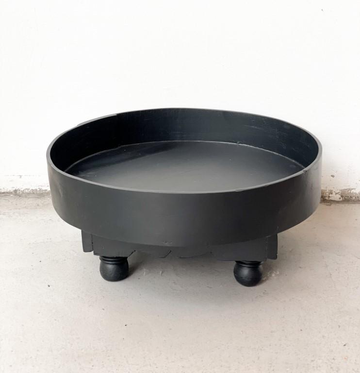 Tray table black 55cm