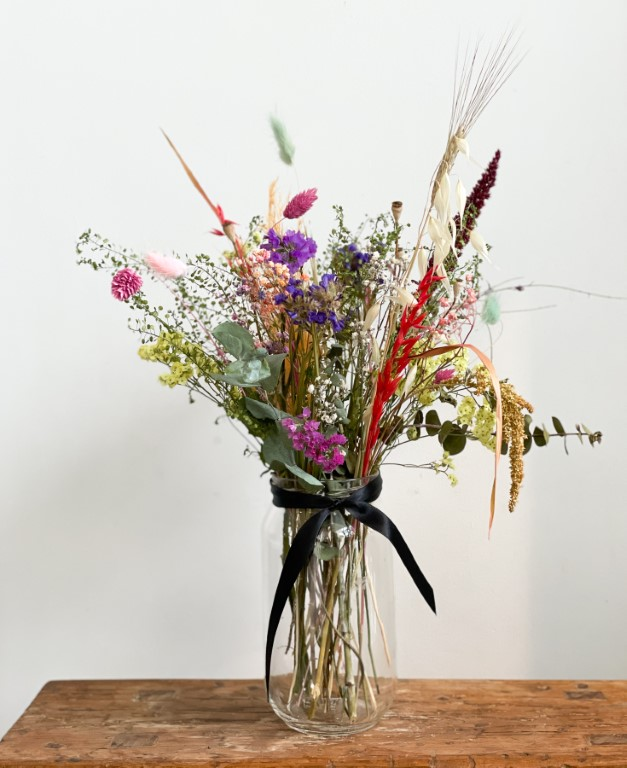 Dried Flower arrangement in jar