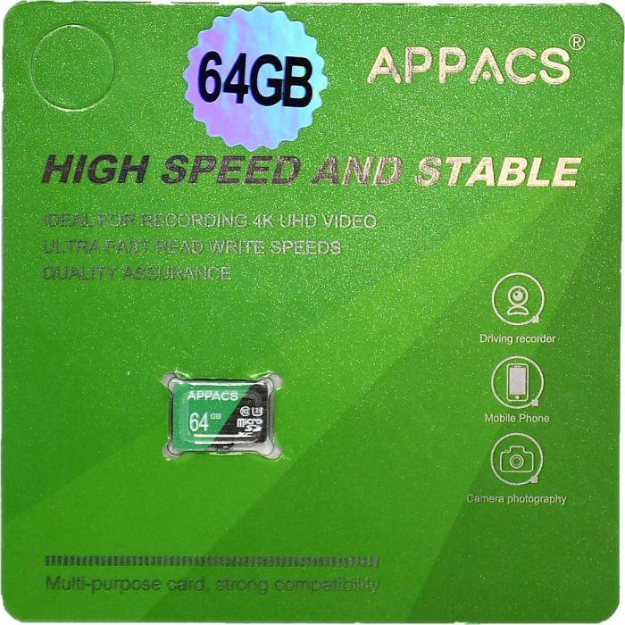 APPACS Memory Card Micro SD 64GB Class 10