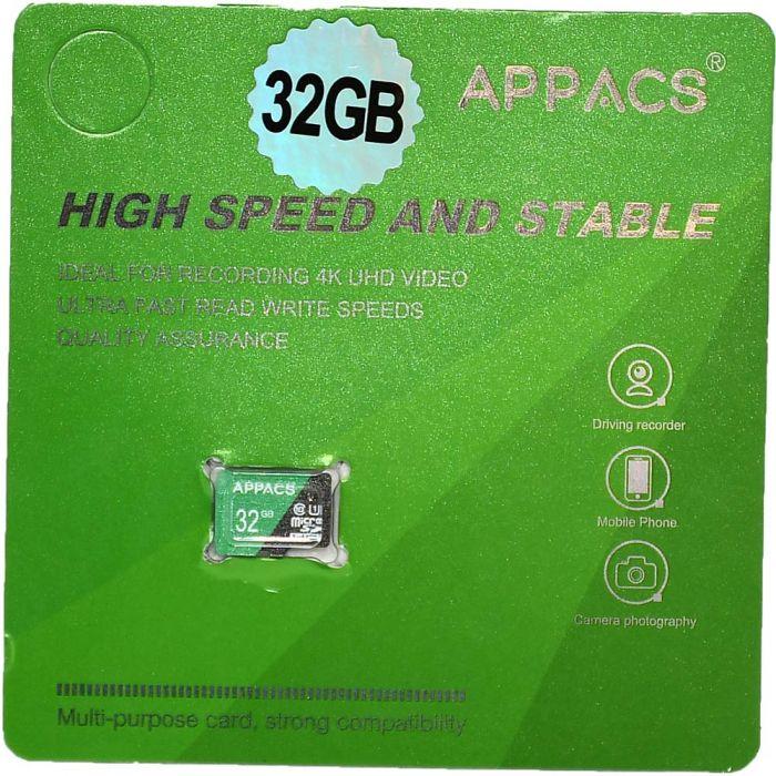 APPACS Memory Card Micro SD 32GB Class 10