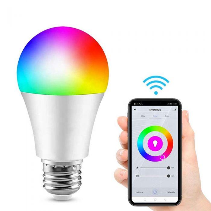 Wifi LED RGB Bulb E27 10W RGB Smart