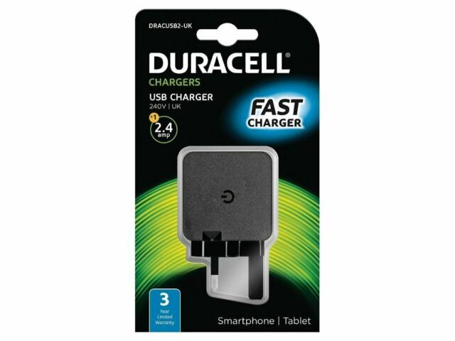DURACELL USB CHARGER - Black