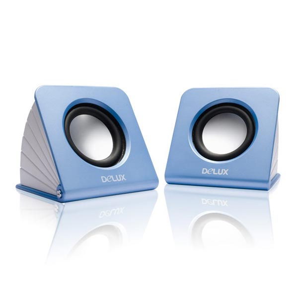 DELUX MINI SPEAKER FOR LAPTOP & PC - Light Blue