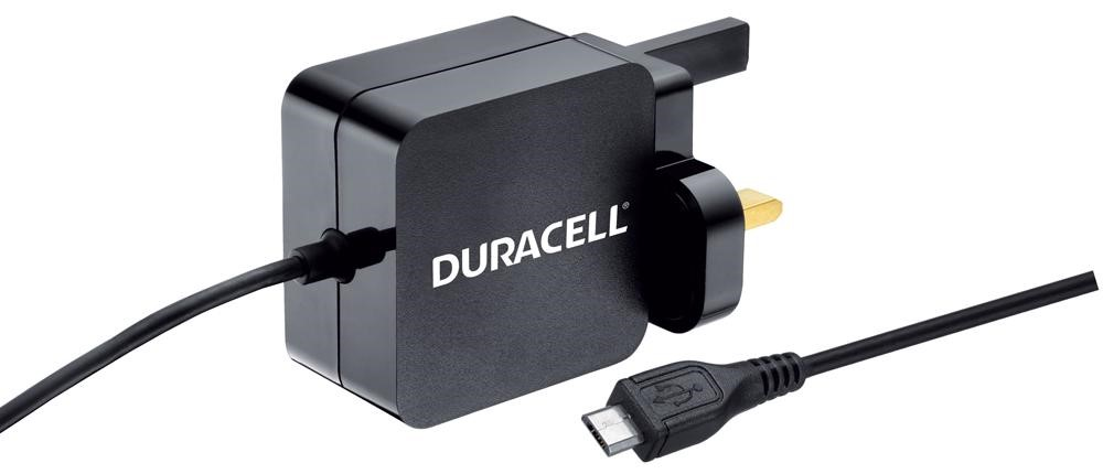 DURACELL MICRO USB CHARGER - Black