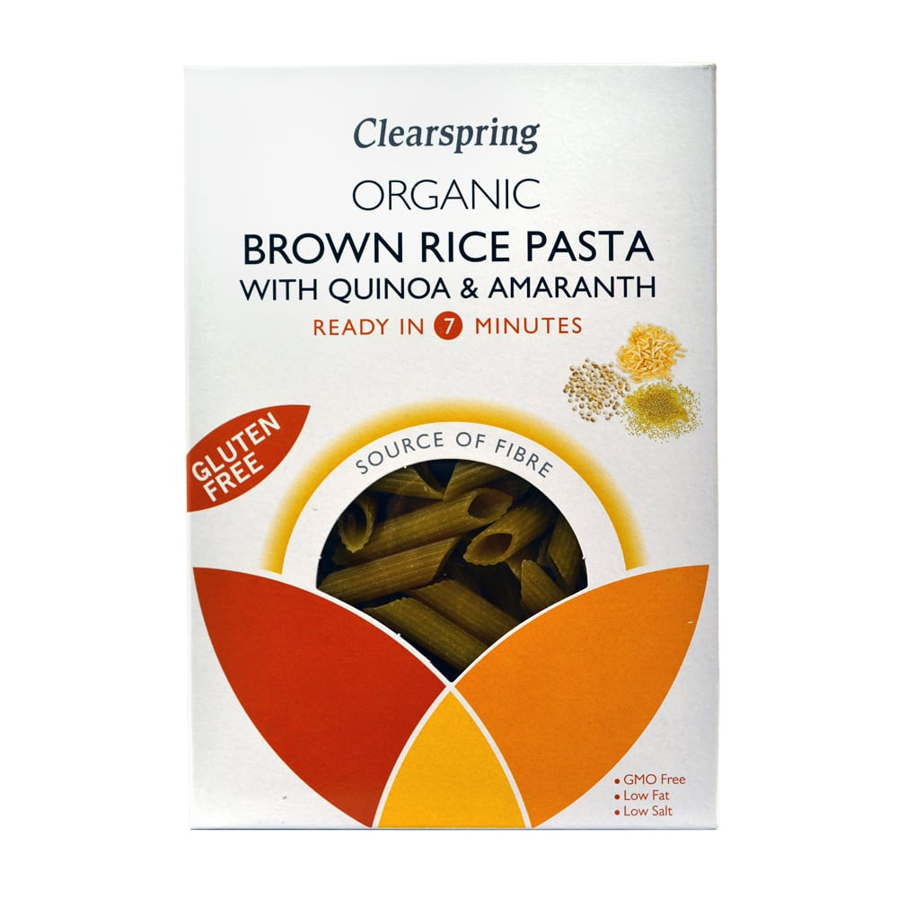 CLEARSPRING BROWN RICE PASTA QUINOA AND AMARANTH GLUTEN FREE