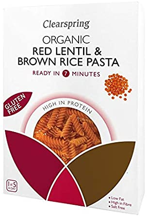 CLEARSPRING RED LENTIL AND BROWN RICE PASTA GLUTEN FREE