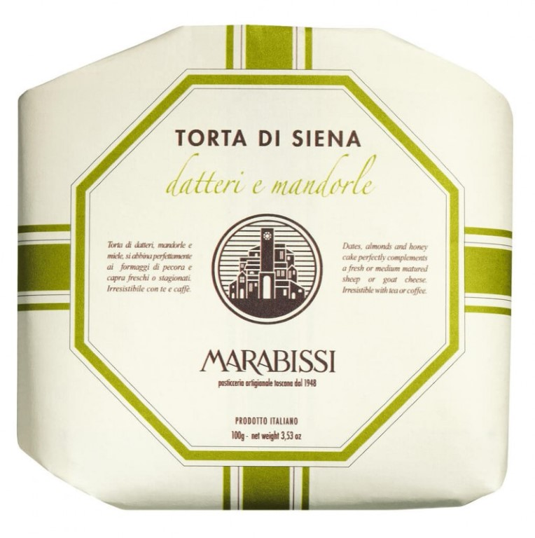 MARABISSI Torta Datteri & Mandorle 100g