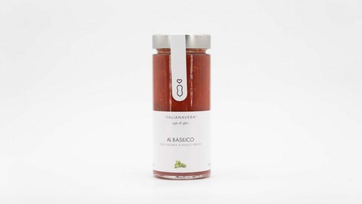 ITALIANAVERA Natural Sauce w/ Fresh Basil 280g