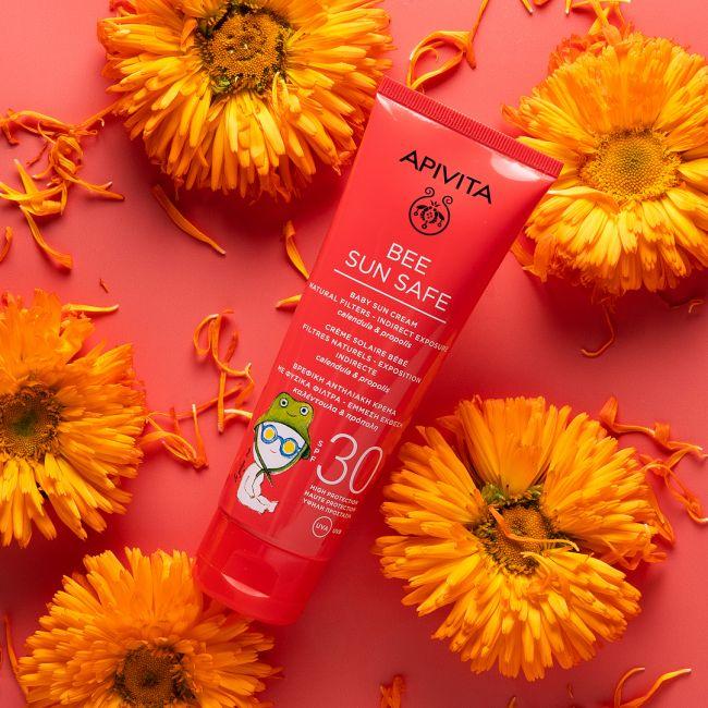 Apivita Baby Sun Cream Natural Filters - Indirect Exposure SPF30, 100ml