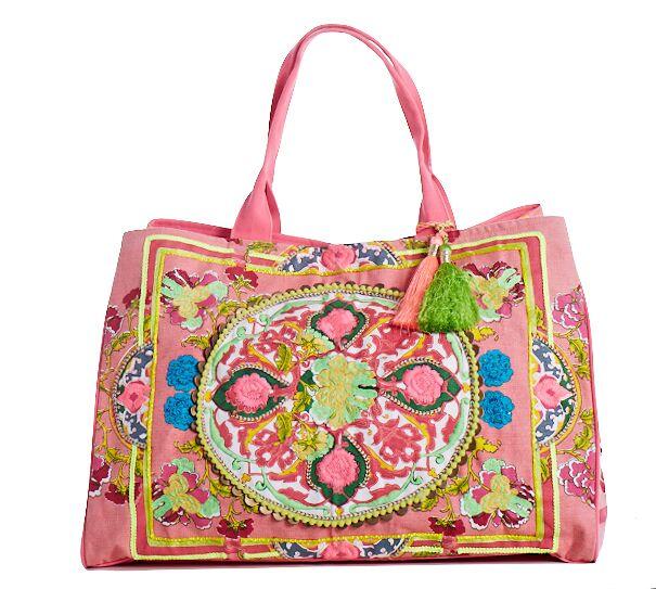 Boho Beach Bag Pink