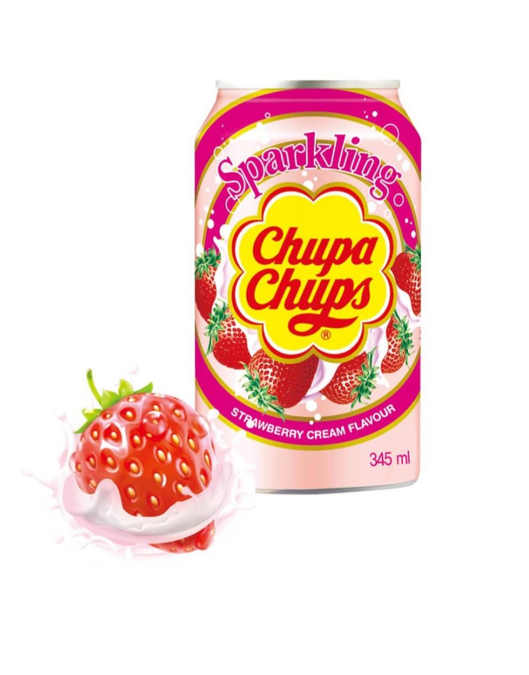 CHUPA CHUPS SPARKLING STRAWBERRY CREAM 250ML