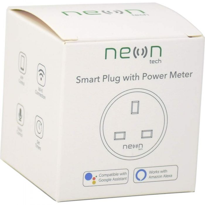 SMART PLUG 13A - WIFI, Alexa, Google Assistant with Energy Meter