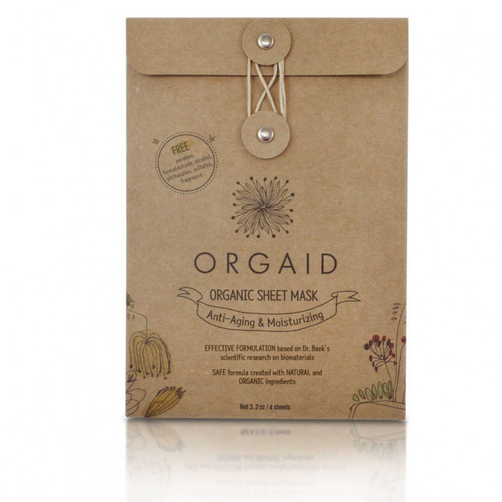 Orgaid Sheet Mask Antiaging Pack - 4 pieces