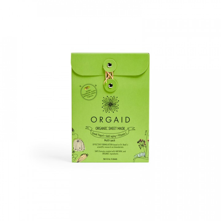 Orgaid Sheet Mask Multi Pack - 6 pieces