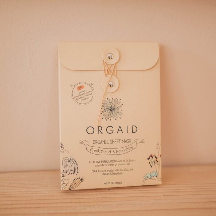 Orgaid Sheet Mask Nourishing Pack - 4 pieces