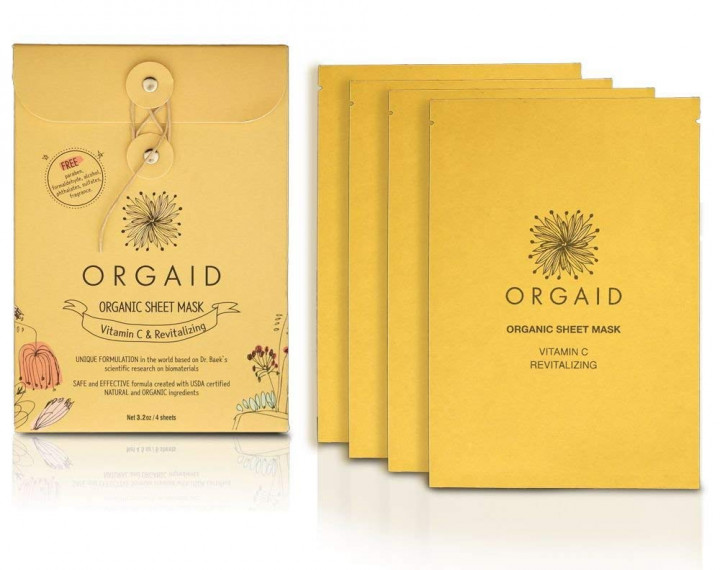 Orgaid Sheet Mask Revitalizing Pack - 4 pieces