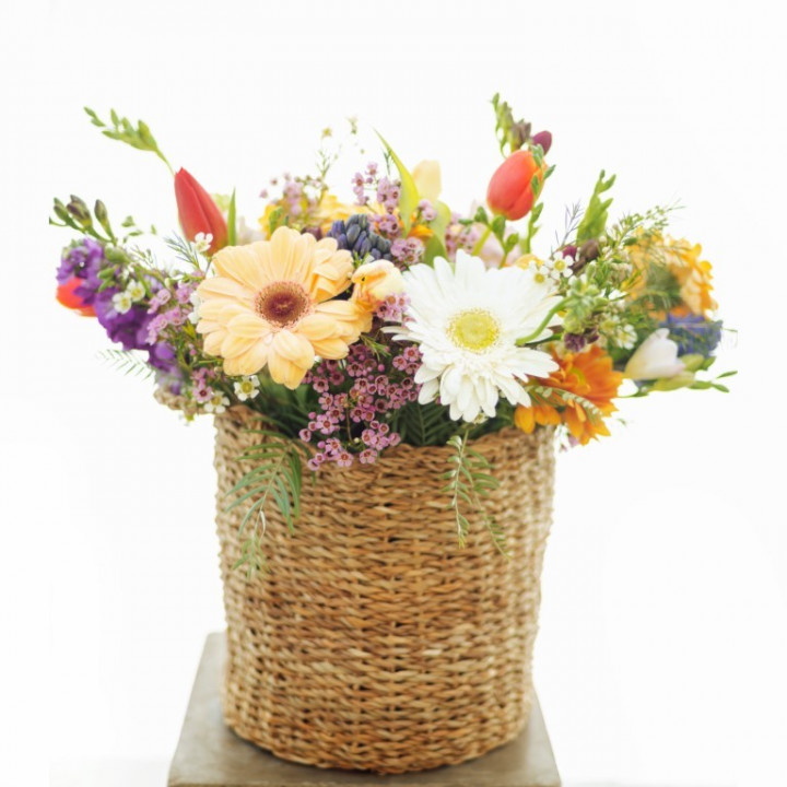 The colorful flower Basket