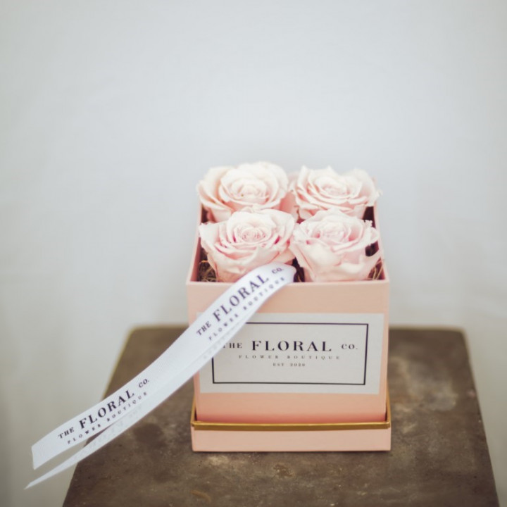 The Pink Forever roses Box