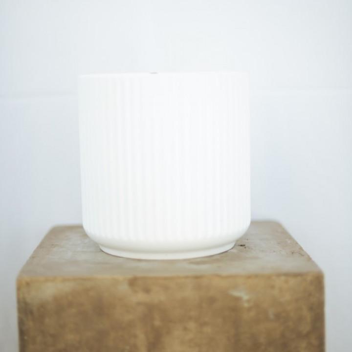 Ceramic pot white 20x20cm