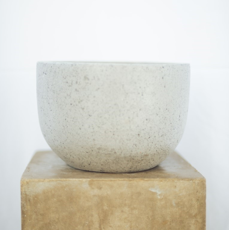 Cement pot grey 20x18H