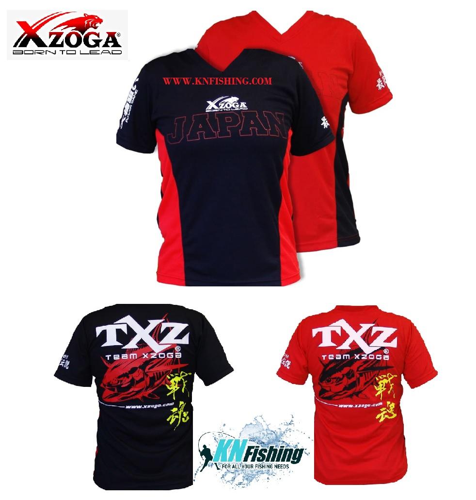 XZOGA ORIGINAL T-SHIRT V NECK SIZES L - Black