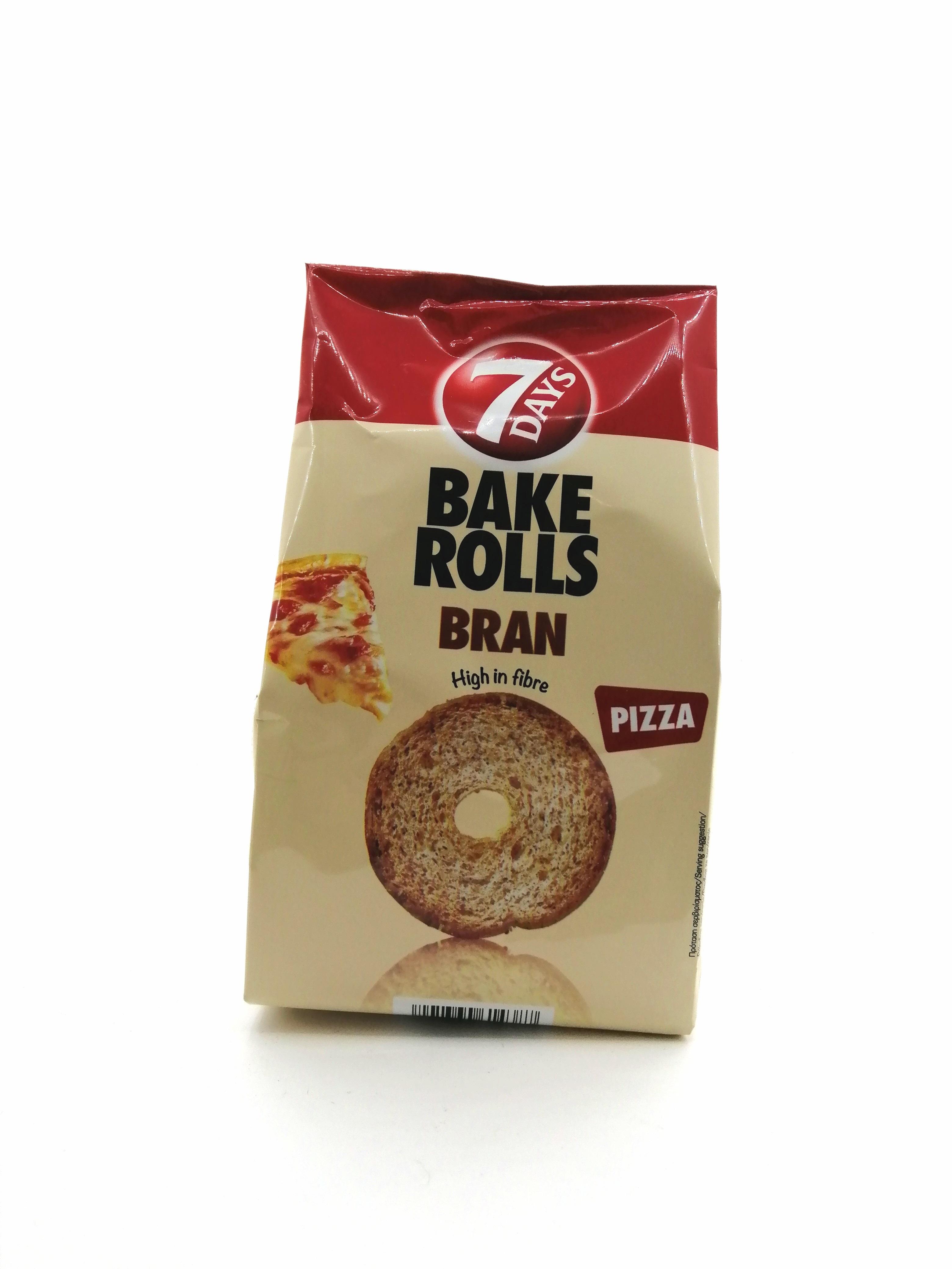 7D BAKE ROLLS BRAN PIZZA 80GR