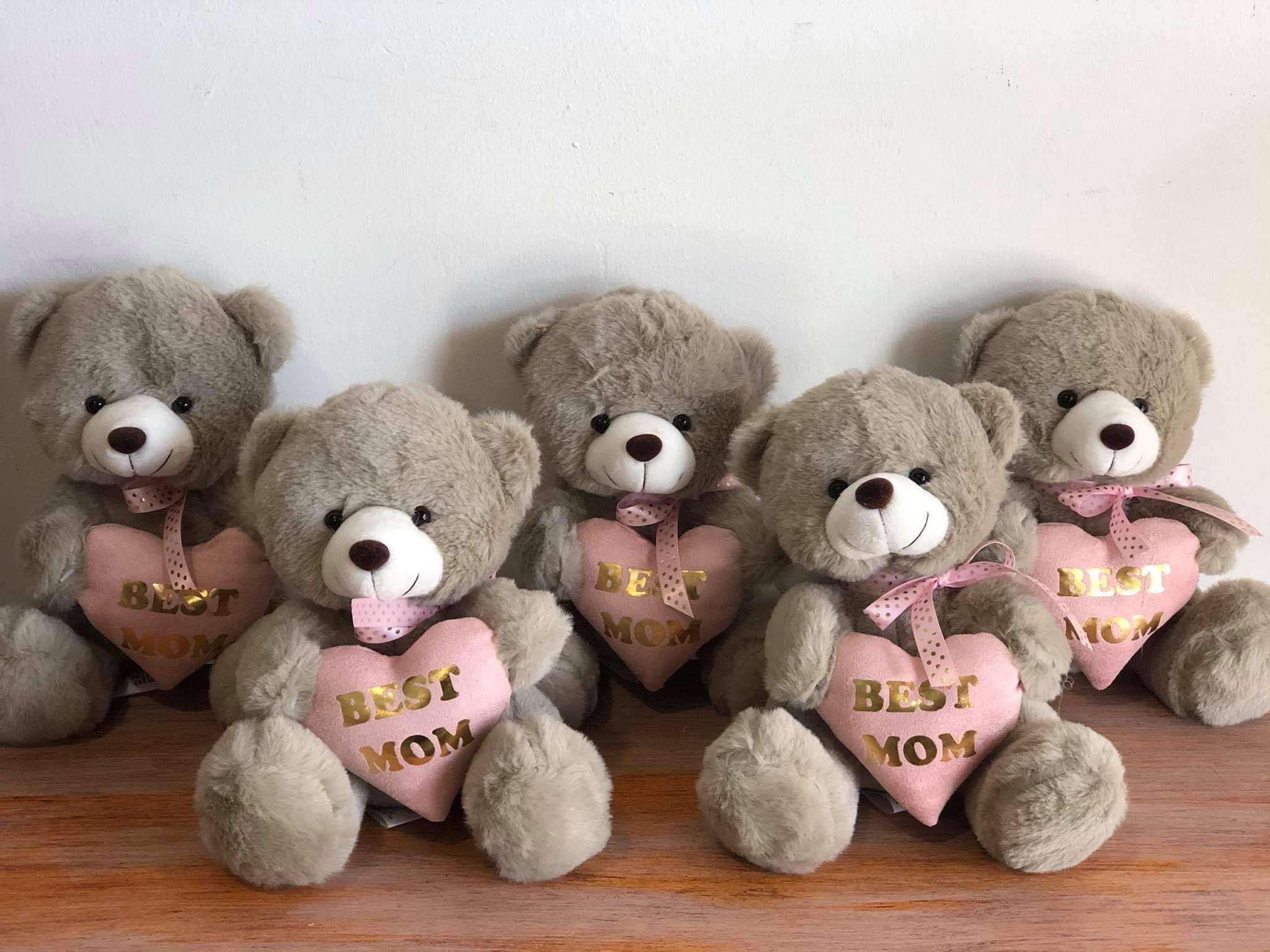 Best MOM - fluffy teddy 20cm